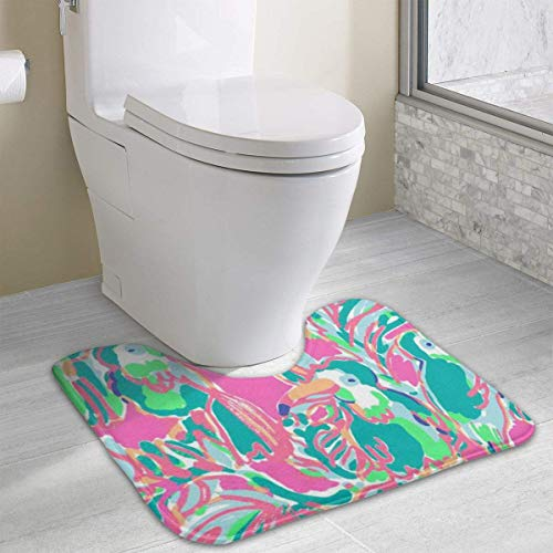 Hornbill Bird Cute Bath Mat Toilet Carpet Doormats Floor Rug for Bathroom Toilet 19.2″x15.7″