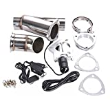 Superland Exhaust Cutout 3 Inch Electric Exhaust Catback Exhaust Downpipe Y-Pipe QTP E-Cut Stainless Kit Remote Valve System 76MM (3 Inch)