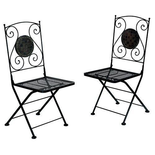 Furniture of America Solaro Mosaic Design Outdoor Chair, ...