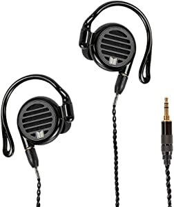 Monoprice Monolith M350 in-Ear Planar Headphones, with Built-in Ear Hooks, Open Back Design, for Mobile Phones, Tablets, Laptops, or Video Game Controllers, 139415, Black