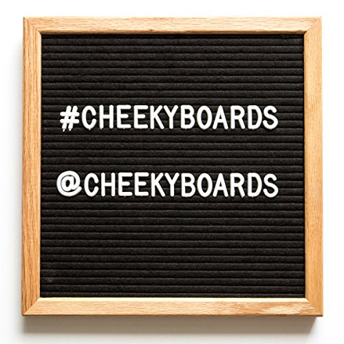 Felt Letter Board - Vintage Corporate Peg Message Board - 10 by 10 inch Oak Wood Frame, 290 White Changeable Letters, Numbers and Punctuation - Desk Stand, Mounting Hook, and (Table Message Frame)
