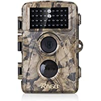 RAGU Trail Camera 8MP 720P Hunting Camera Deer Camera Low Glow 34pcs 850nm IR LEDs 65ft Detection Distance Waterproof IP56 1-Year Warranty