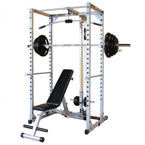 Powerline PPRPACK5 Power Rack Package with Rubber Grip Weights by Powerline