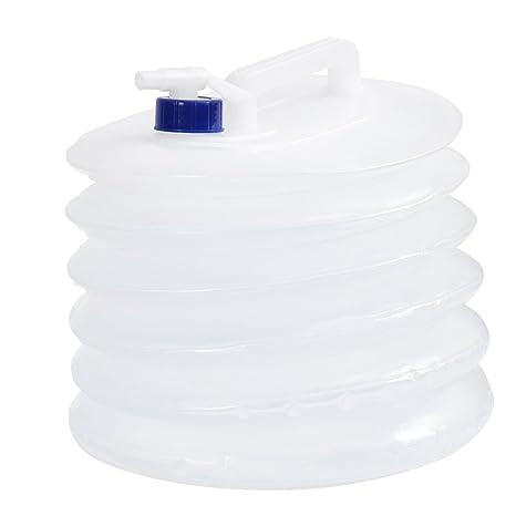 WINOMO contenedor de Agua Plegable Agua Bidón Viaje Plegable Grifo 15L para Agua Potable Camping Picnic