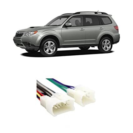 amazon com: fits subaru forester 2009-2015 factory stereo to aftermarket  radio install harness: car electronics