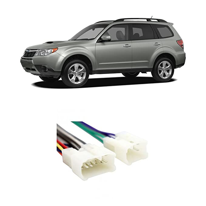 amazon com fits subaru forester 2009 2015 factory stereo toamazon com fits subaru forester 2009 2015 factory stereo to aftermarket radio install harness car electronics