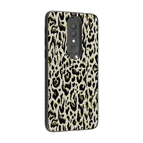 (TurtleArmor   Compatible for Alcatel Onyx Case   Engraved Grooves Slim Armor Dual Layer Hybrid Case Girl Designs - Fainted Leopard Print)