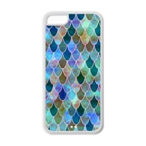 Unique Design Mermaid Scales Pattern Hard Back Case Cover Shell for IPhone 5C