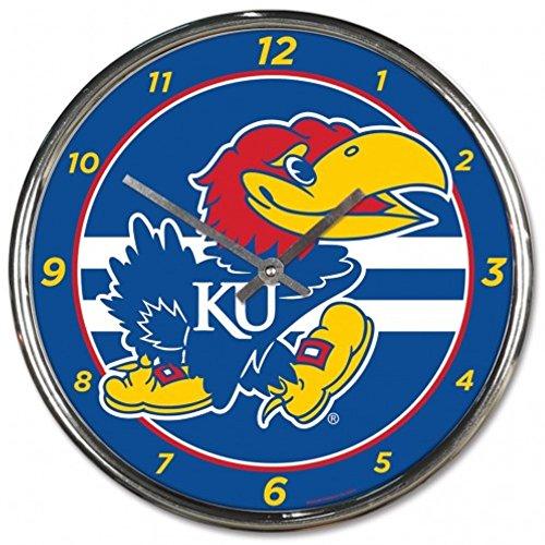 NCAA Kansas Jayhawks WinCraft Official Chrome Clock