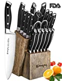 Emojoy 18pc Kitchen Knife Set & Wooden Block German Stainless Steel Deal (Small Image)
