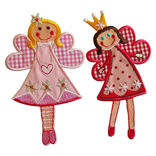 (Fairy Sophie 11X7Cm Fairy Jilly 11X7Cm Iron-On Designer Patch Used For Gifts Fabric Clothing Jeans Crafts To Iron On Bag Cap Dresses Bag Hat Cushion Skirt Ceiling Hat Trousers Pants Cap Flag Neckerch)