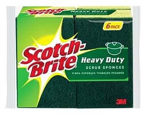 Scotch-brite Heavy Duty Scrub Sponge 426U-SP, 6-Count (Pack of 2)