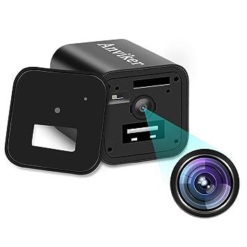 Cámaras Ocultas del Cargador de la Pared del USB de 1080P HD, Enchufe del Adaptador del Cargador de la cámara espía de Nanny con la función de ...
