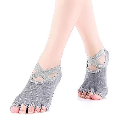 Calcetines duraderos Calcetines de yoga antideslizantes para ...