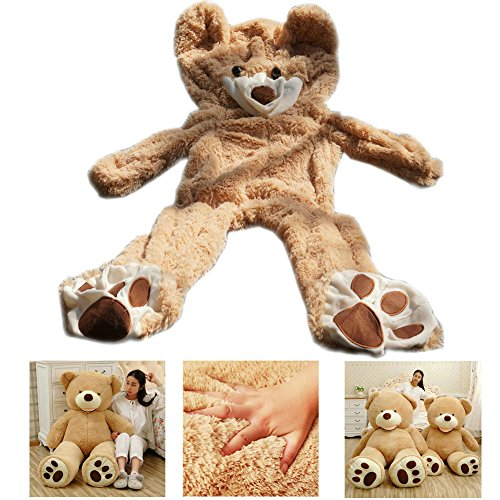 [Livingly Light 5.2 Feet Giant Teddy Bear No Filler Animal Plush Soft Toy DIY Shell with Zipper ( Only Cover, No Cotton) 160 cm Light] (Stuffed Bear Costume)