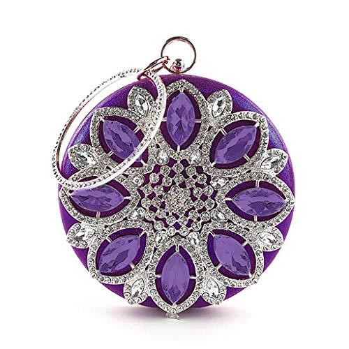 Fête Vintage Femme Femme Sac Pour Sacs De Pour Sac Main Mariage Soirée fanbufan Pour purple Strass Sac D'embrayage à nwagx0qCP