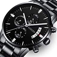 [Sponsored]KASHIDUN Men's Watches Luxury Sports Casual Quartz Wristwatches Waterproof Chronograph...