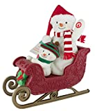 Hallmark Twinkling Sleigh Ride Snowman Techno Plush