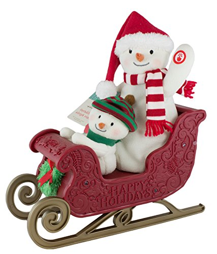 (Hallmark Twinkling Sleigh Ride Snowman Techno Plush)
