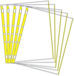 product image for EnvyPak Sheet Protectors Color-Coded Edges 8.5 X 11-3 Hole Punched - Pack of 100 (Yellow)