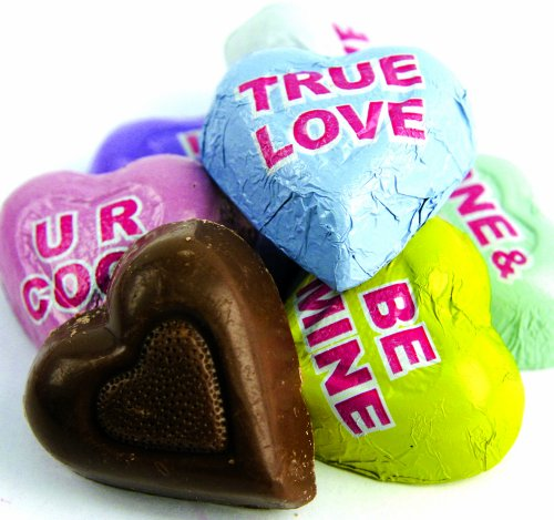Chocolate Conversation Hearts , Yankee Traders, 2 Lbs