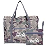 CamoFresh Foldable Travel Duffel Bag Lightweight Packable Tote