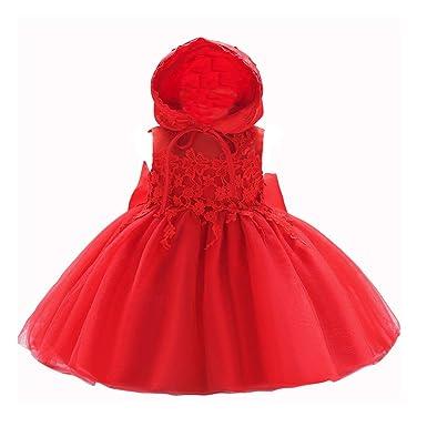 d191d9859ba7 Amazon.com  LZH Baby Girl Dress Formal Christening Baptism Gowns ...