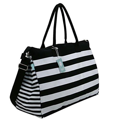 Bags Top Shoulder Bags Handbags Bags Blue Blue Stripes Duffle Beach Handles Travel Bag Cross createpro Travel body iwill Canvas Tote Bag BqTfCT