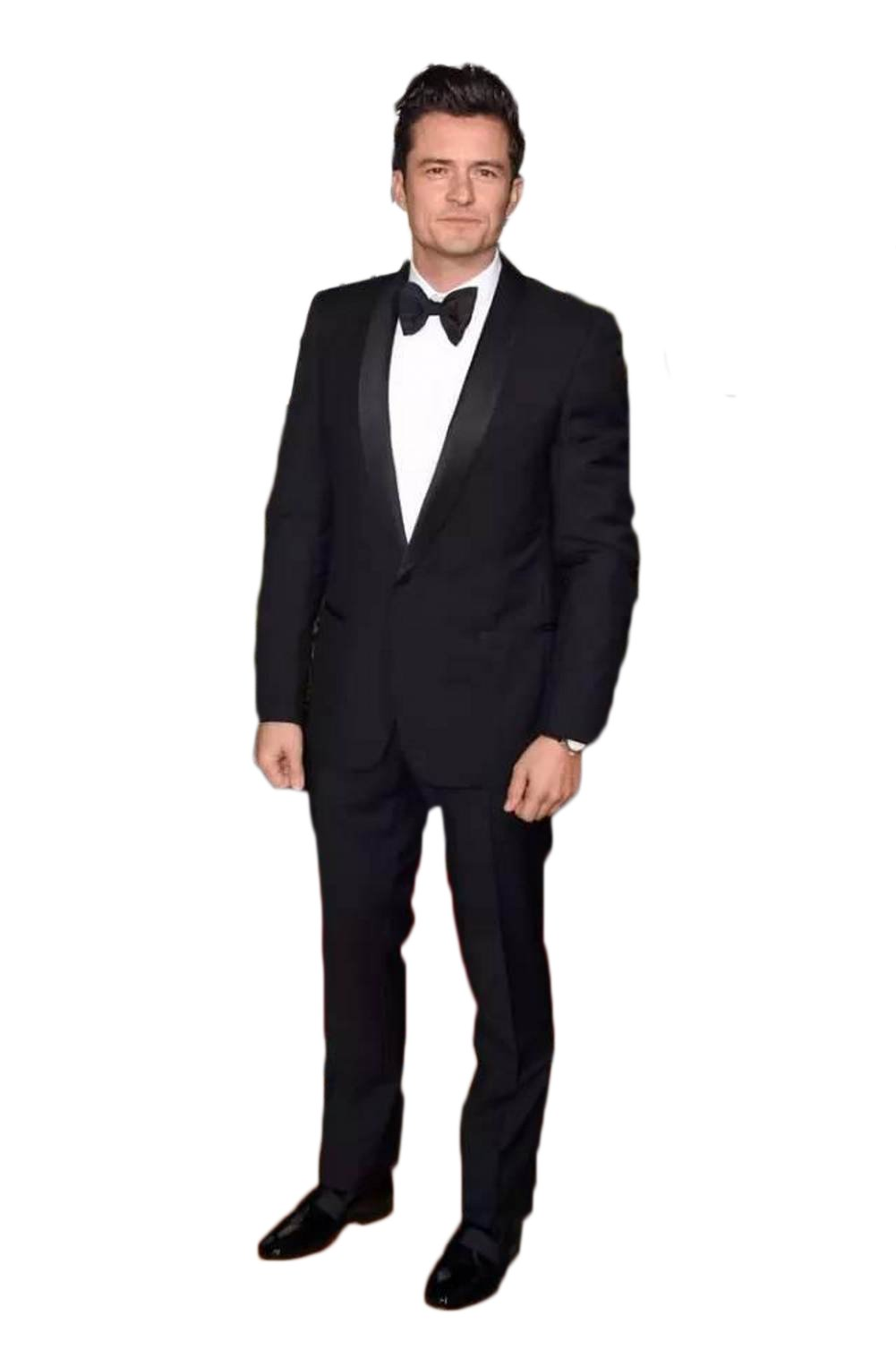 Love Dress Men's Slim Fit Black Peak Lapel Celebrity Gown 5XL