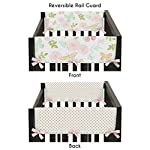 Sweet-Jojo-Designs-Blush-Pink-Mint-Gold-and-White-Watercolor-Rose-Polka-Dot-Side-Crib-Rail-Guards-Baby-Teething-Cover-Protector-Wrap-for-Butterfly-Floral-Collection-Set-of-2