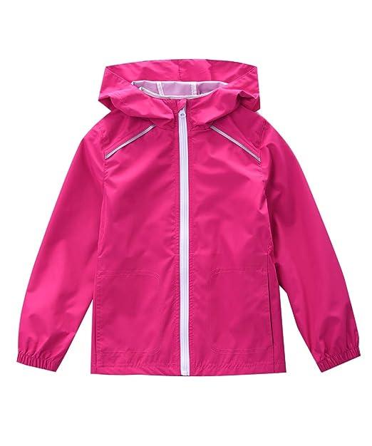 Amazon.com: M2C - Chaqueta de lluvia para niñas, ligera ...