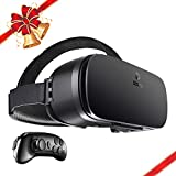 Electronics : DESTEK V4 VR, 103°FOV, Eye Protected HD Virtual Reality Headset w/ Controller/Gamepad, Touch Button/Trigger for iPhone 6 6s 7/plus, Samsung s6 s7 s8/Plus/Edge Note 8, Smartphones w/ 4.5 - 6.0in Screen