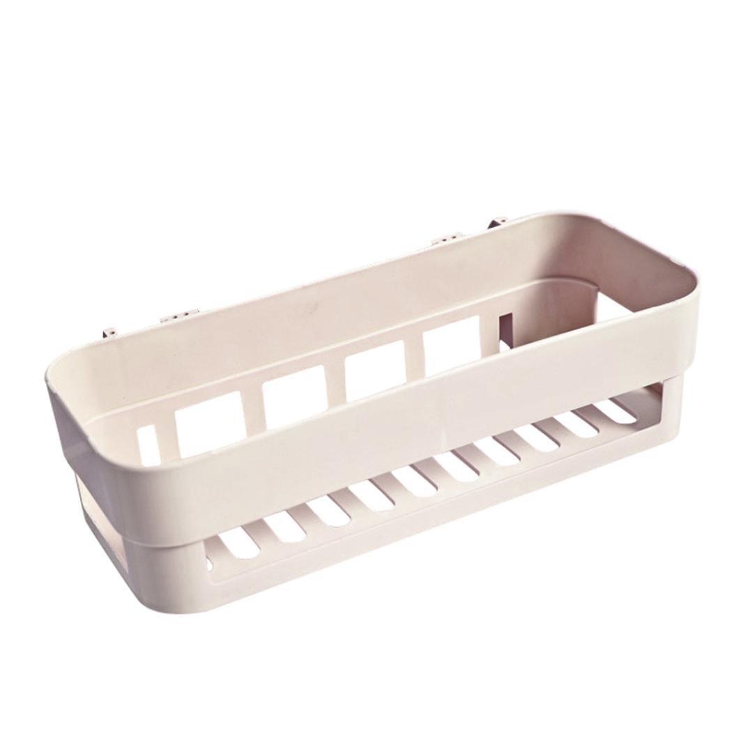 89cf1ae3f3cd03 upxiang plastique Aspirateur sec Support, Salle de Bain Ventouse, coin  cuisine Boîte de rangement Organisateur, étagère de douche ablass Baignoire  Support ...