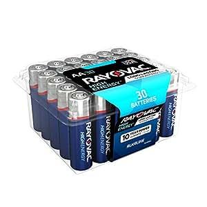Amazon.com: RAYOVAC AA 30-Pack HIGH ENERGY Alkaline