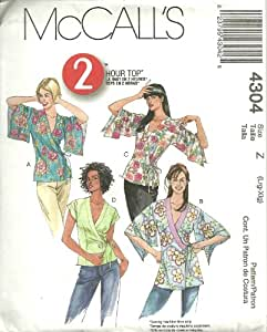 Misses Tops In Two Lengths McCall's Sewing Pattern 4304 (Size Z: Lrg-Xlg)