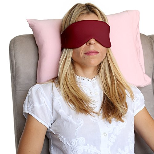 [HappyLuxe Escape Sleep Mask, Eye Mask, Bold Burgundy, Great for Sleep, Flights,Travel] (Halloween Accessories Claires)