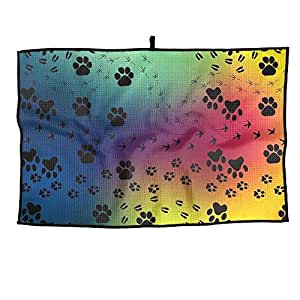 Paw Prints Unisex Casual Portable Golf Towel Sports Towel 38X60cm