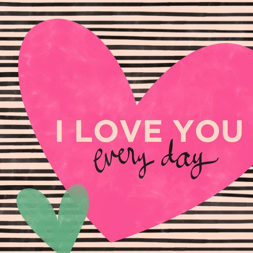 Oopsy Daisy I Love You Everyday by Ampersand Design Studio Canvas Wall Art, 10 by 10-Inch