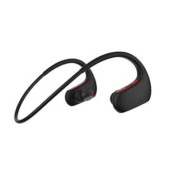 MUTANG Auriculares con Gancho para la Oreja Bluetooth IPX7 Auriculares inalámbricos con protección para Deportes HD Auriculares estéreo con micrófono en la ...