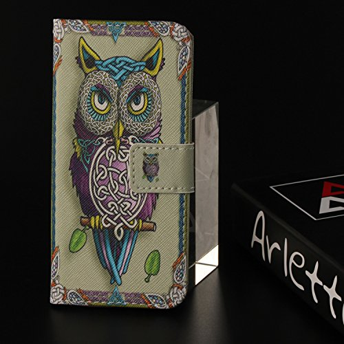 Avec Étui Chouette Portefeuille Wallet Supporter Coque Housse Cuir Lg Ooboom® Thinq Case Cover cartes Fleur G7 Pu Flip Porte Pour P87H6