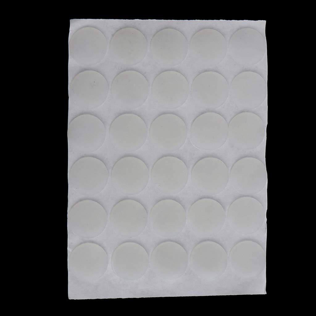 24 piezas-20x1mm IPOTCH Amortiguador de Puerta Autoadhesiva de Silicona Tope de Pared Transparente Goma Protectora para Ventana Armario