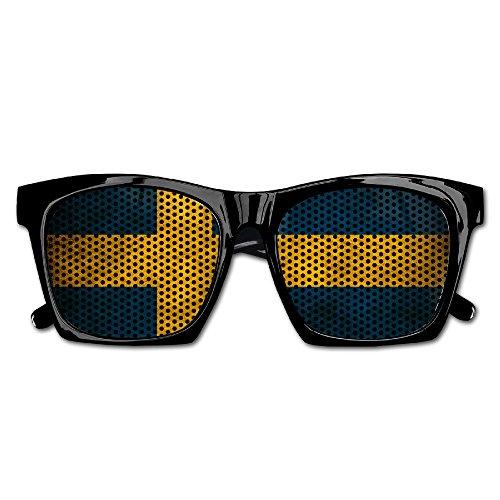 Swedish Flag Party Sunglasses Mesh Lens Glasses Costume Sunglasses Eyewear For Groom Party Wedding - Custom For Lenses Sunglasses
