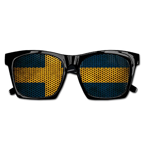 Swedish Flag Party Sunglasses Mesh Lens Glasses Costume Sunglasses Eyewear For Groom Party Wedding - Glasses Swedish Frames