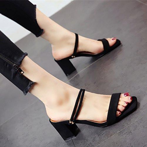 YMFIE Señoras' Exterior Antideslizante Confortable Calzado de Playa de Moda de Primavera y Verano Sexy Toe Sandalias Puntiagudos Dos Maneras de vestirse. a