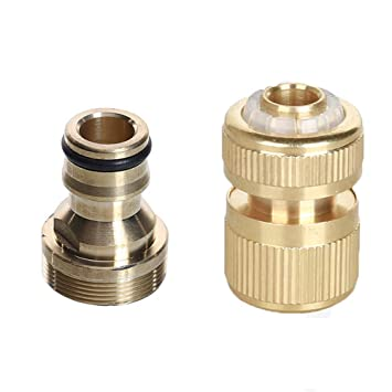 1 1//2 INCH MALE SOLID BRASS QUICK CONNECT CAM LOCK FIRE HOSE CONNECTOR