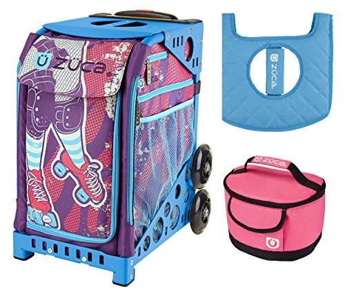 Zuca Sport Bag - Roller Girl with Gift Lunchbox and Seat Cover (Blue Frame) by ZUCA