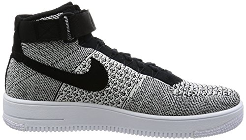 NIKE Mens AF1 Ultra Flyknit Mid Basketball Shoe Black/Black-white bpfX0r