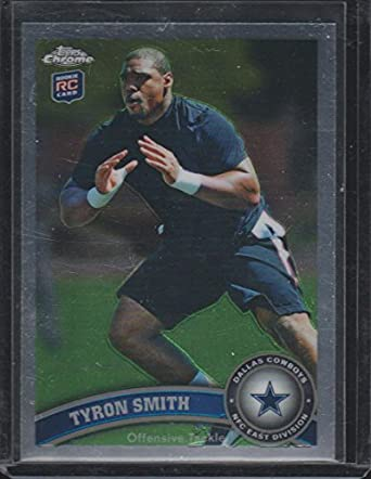 cfd164456 2011 Topps Chrome Tyron Smith Cowboys Rookie Football Card #38 at ...