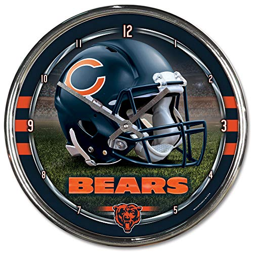 Wincraft Chicago Bears Clock - Nfl Football Team Chrome Wall Clock , Chicago Bears , 12-Inch