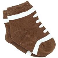 Mud Pie Newborn Baby-Boys Football Socks, Brown/White, 0-12 Months